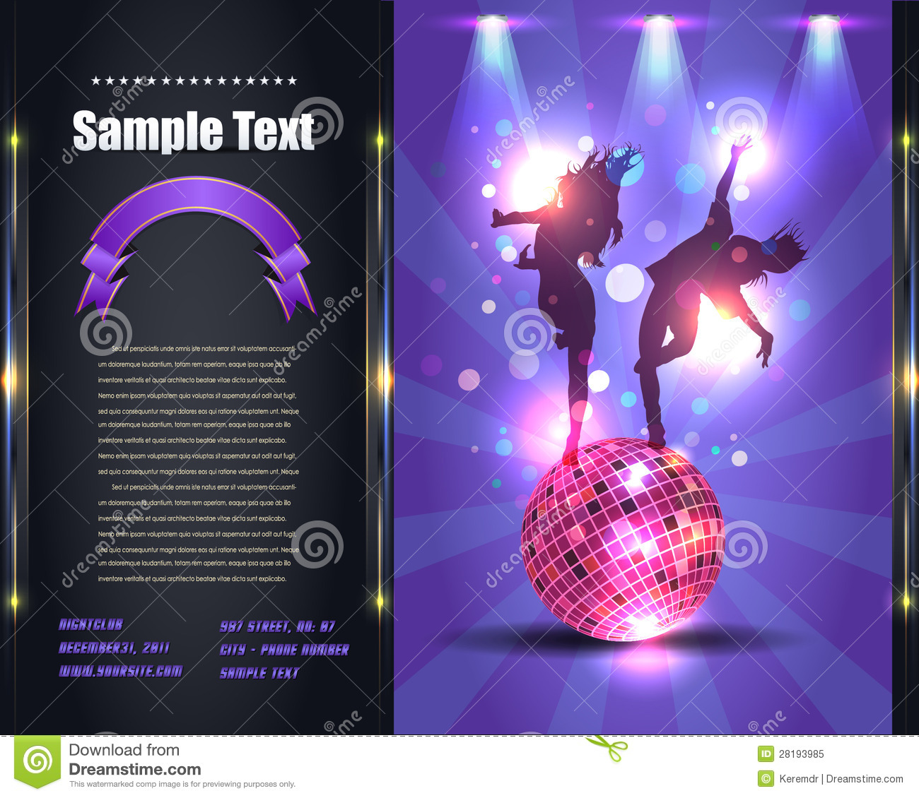 party brochure flyer vector template royalty stock photo party brochure flyer vector template