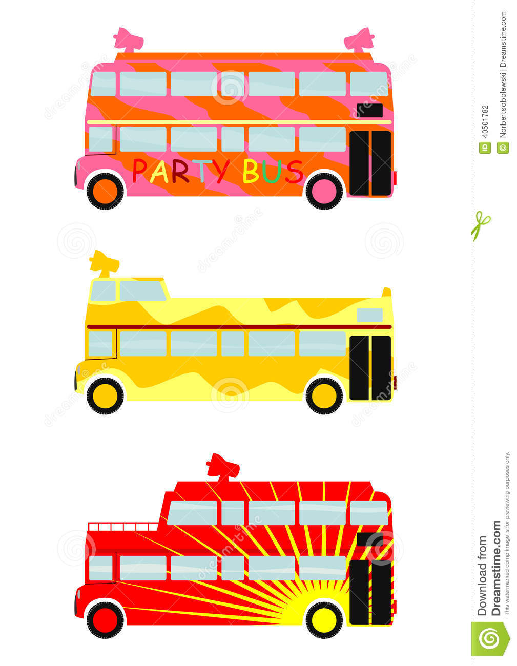 Party Bus Stock Vector Image 40501782