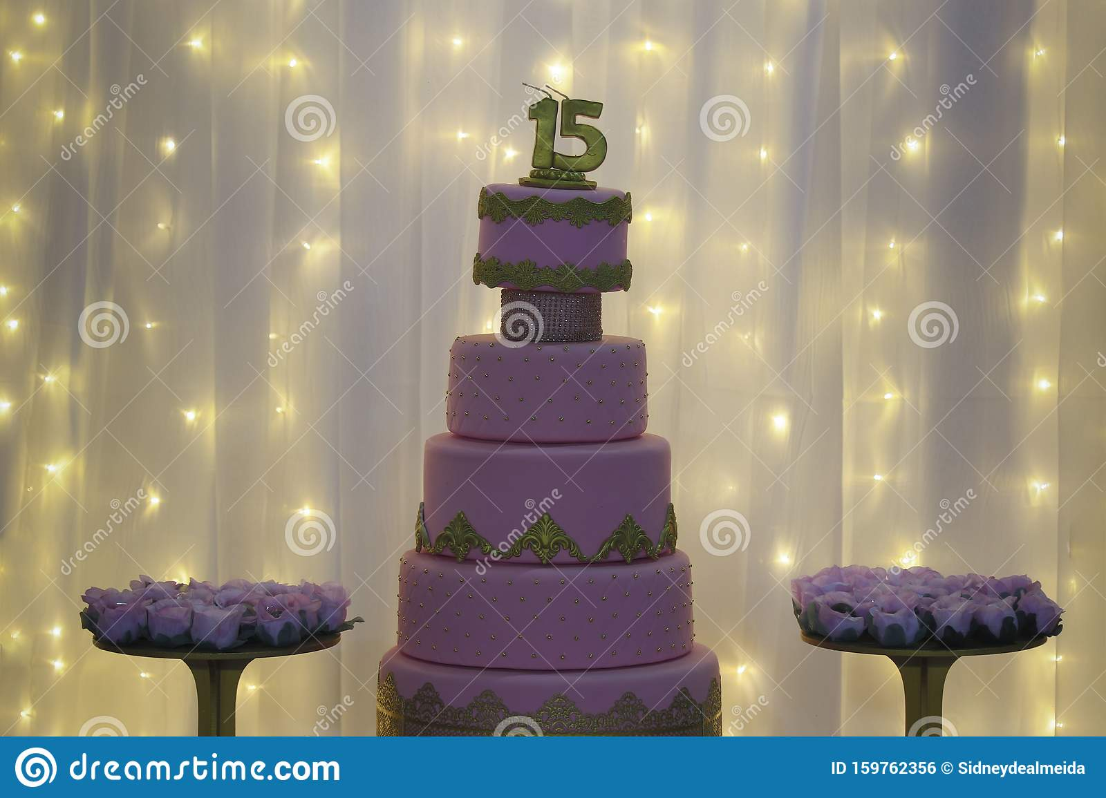 Superb Party Cake 15Th Birthday Cake Fifteen Years Stock Photo Image Funny Birthday Cards Online Inifofree Goldxyz