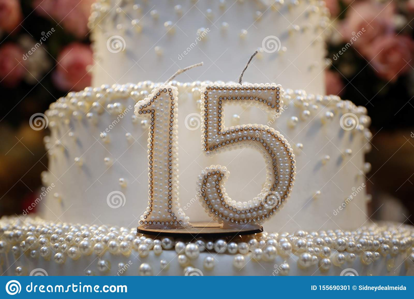 Astounding Party Cake 15 Year Old Birthday Cake Fifteen Years Old Stock Funny Birthday Cards Online Fluifree Goldxyz