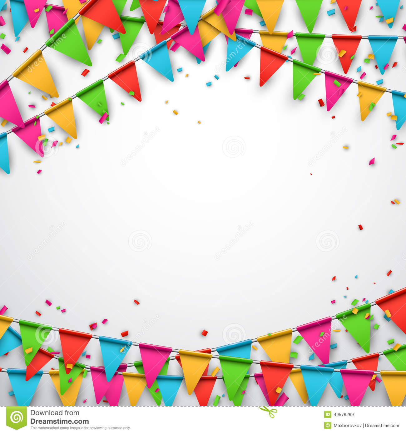 Party Celebration Background. Stock Illustration