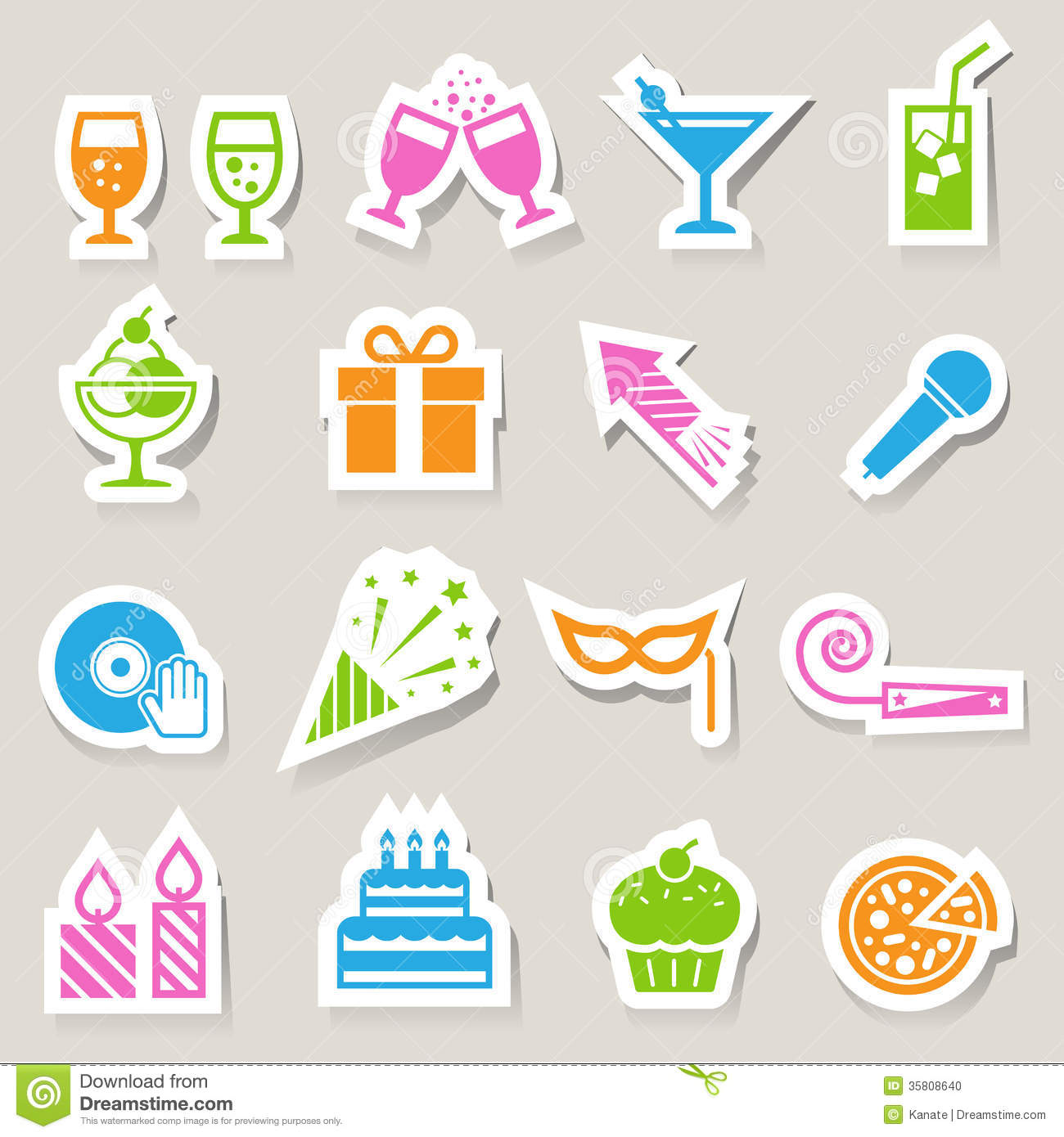 party and celebration icon set stock photo image 35808640 purim clip art free purim clip art images