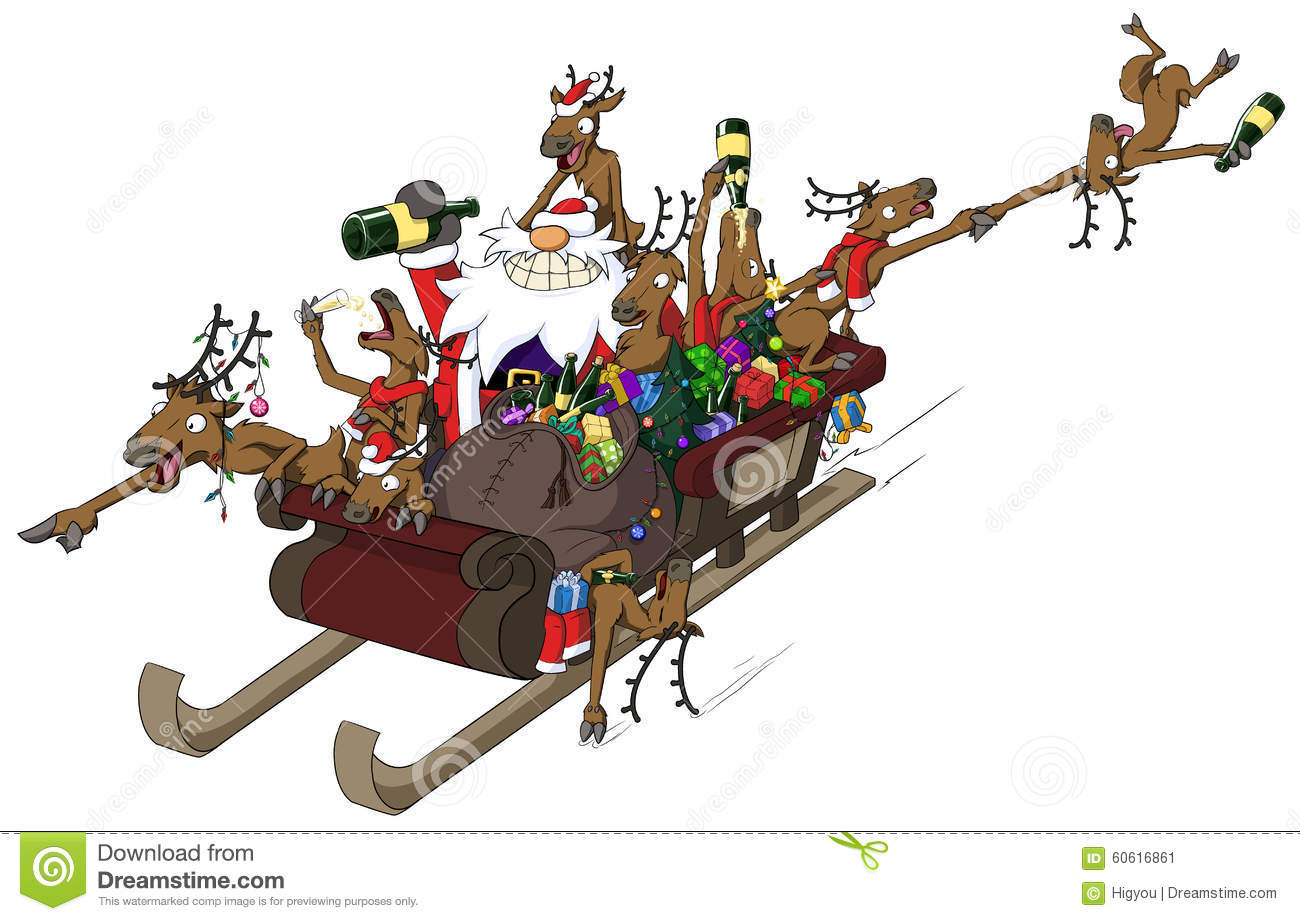 Christmas Sleigh Ride Stock Illustrations 1032 Christmas Sleigh