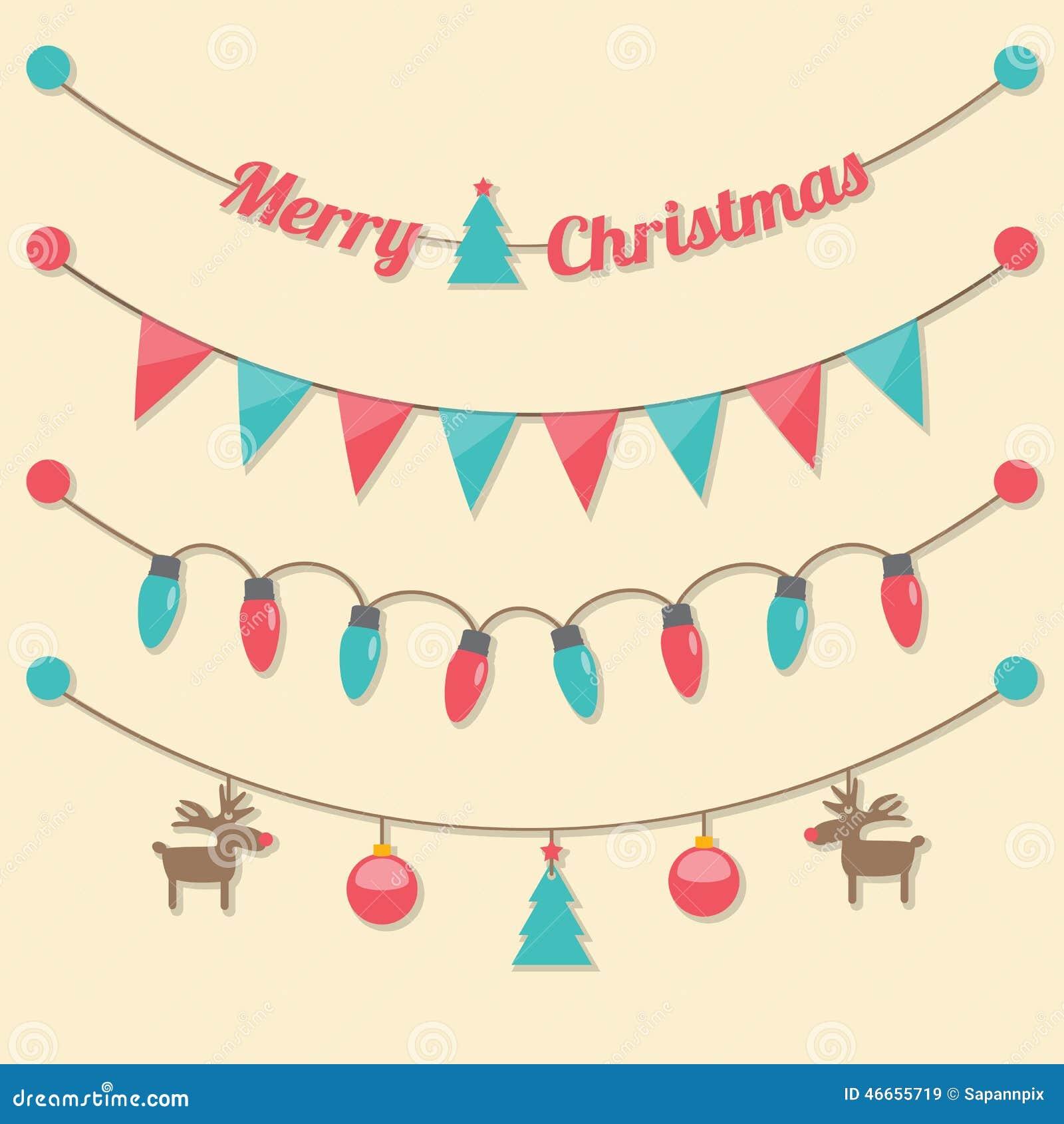 Party Christmas Light Bulbs Stock Vector - Image: 46655719