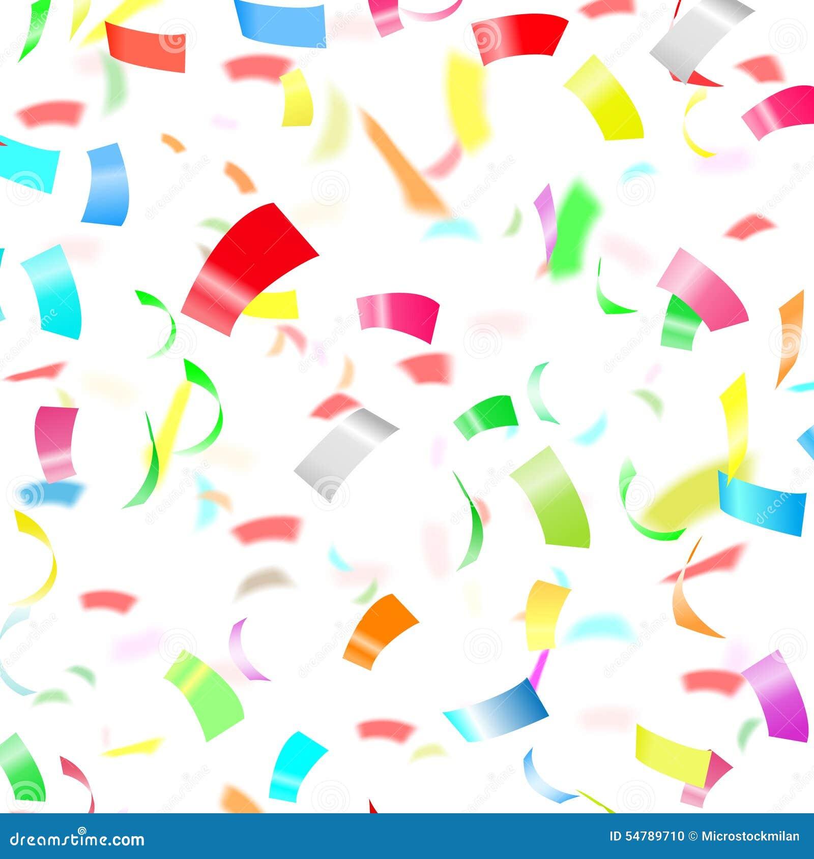 Confetti white background