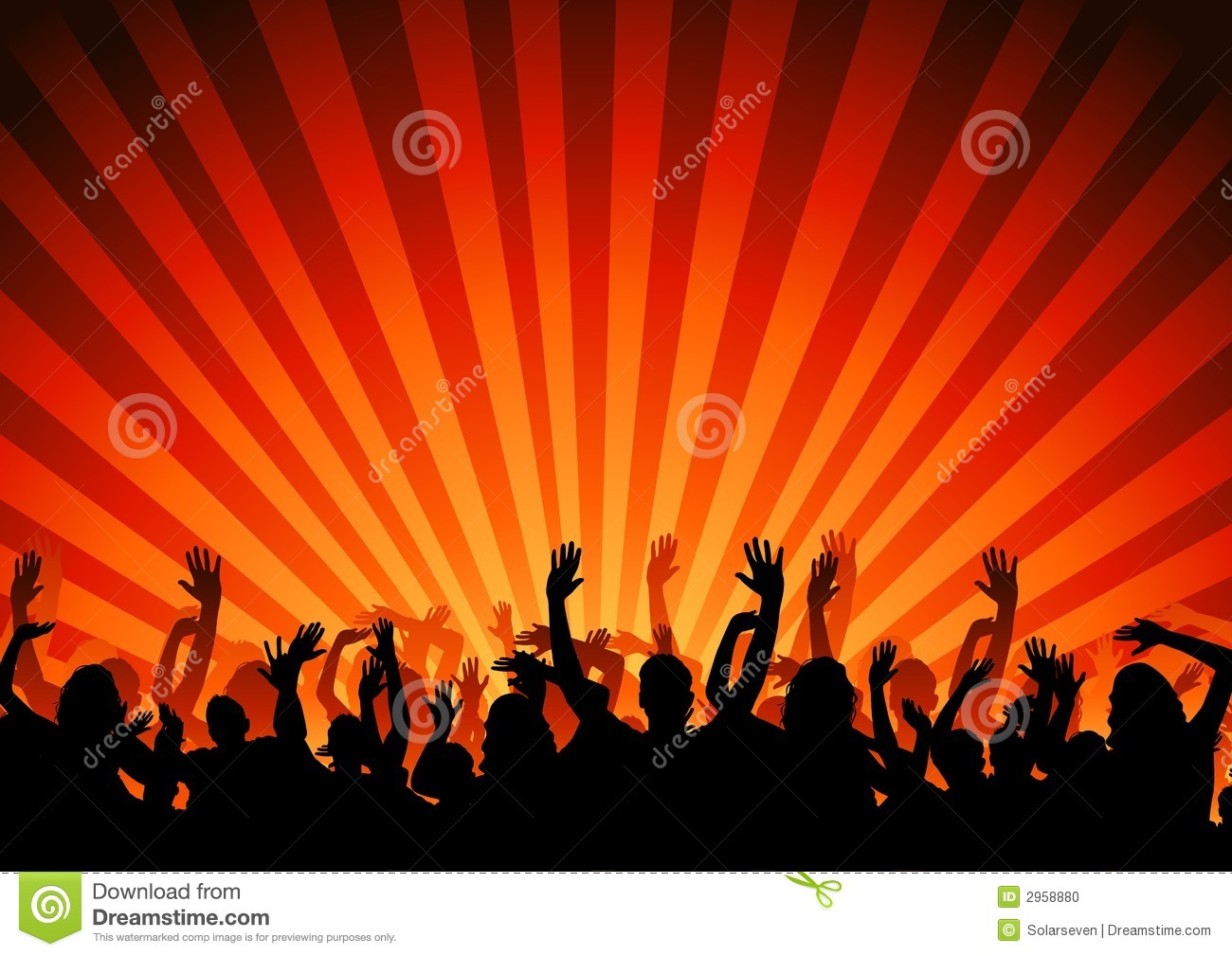 Party Crowd Stock Vector Illustration Of Crowd
