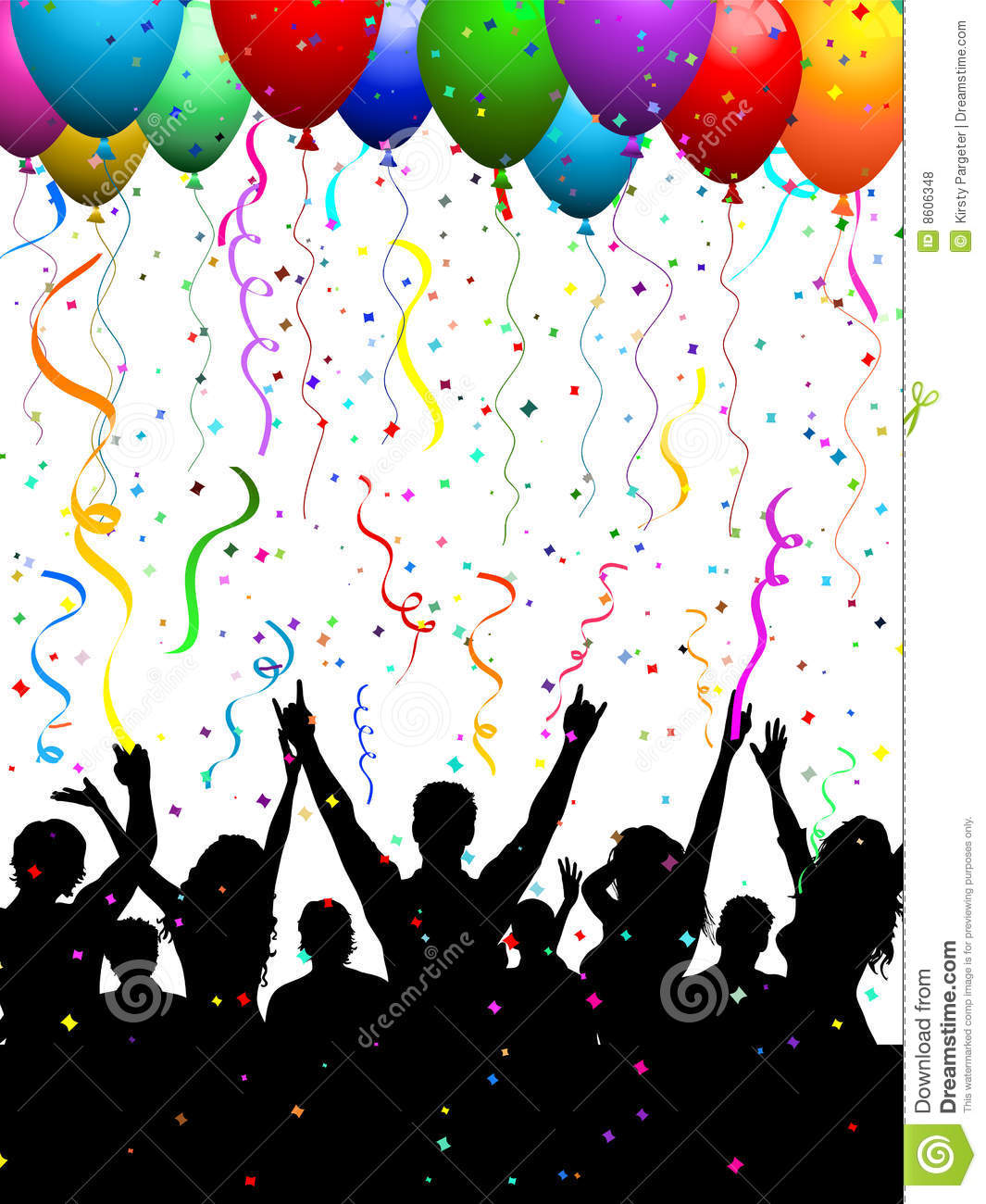 party crowd with balloons royalty free stock photos Chicago Skyline Vector seattle city skyline vector free