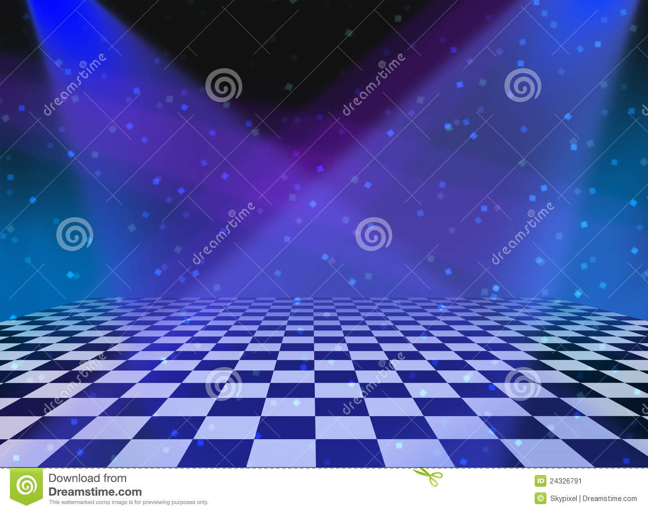 party dance floor background stock illustration