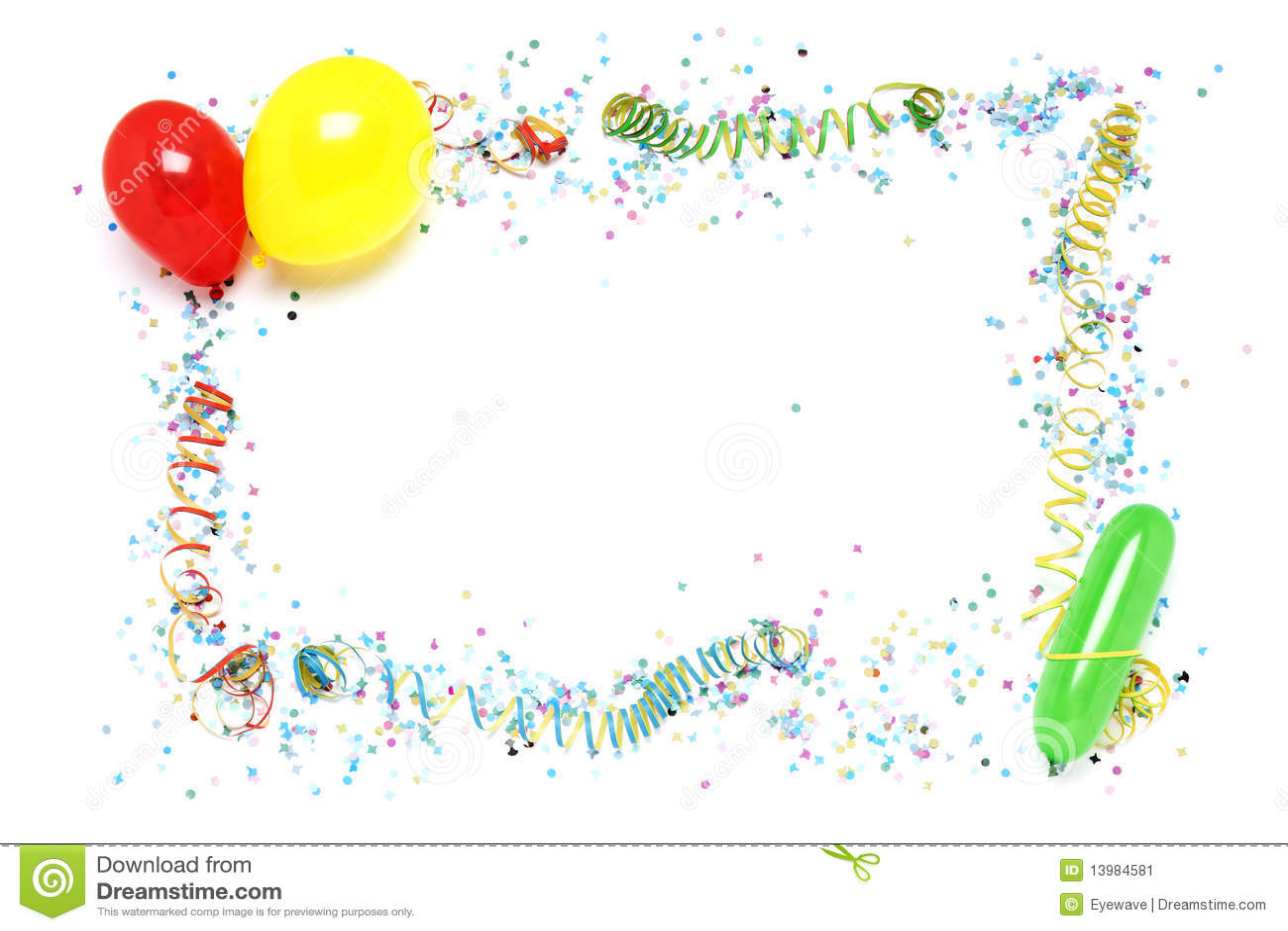 Party Decoration Frame Stock Image Image 13984581
