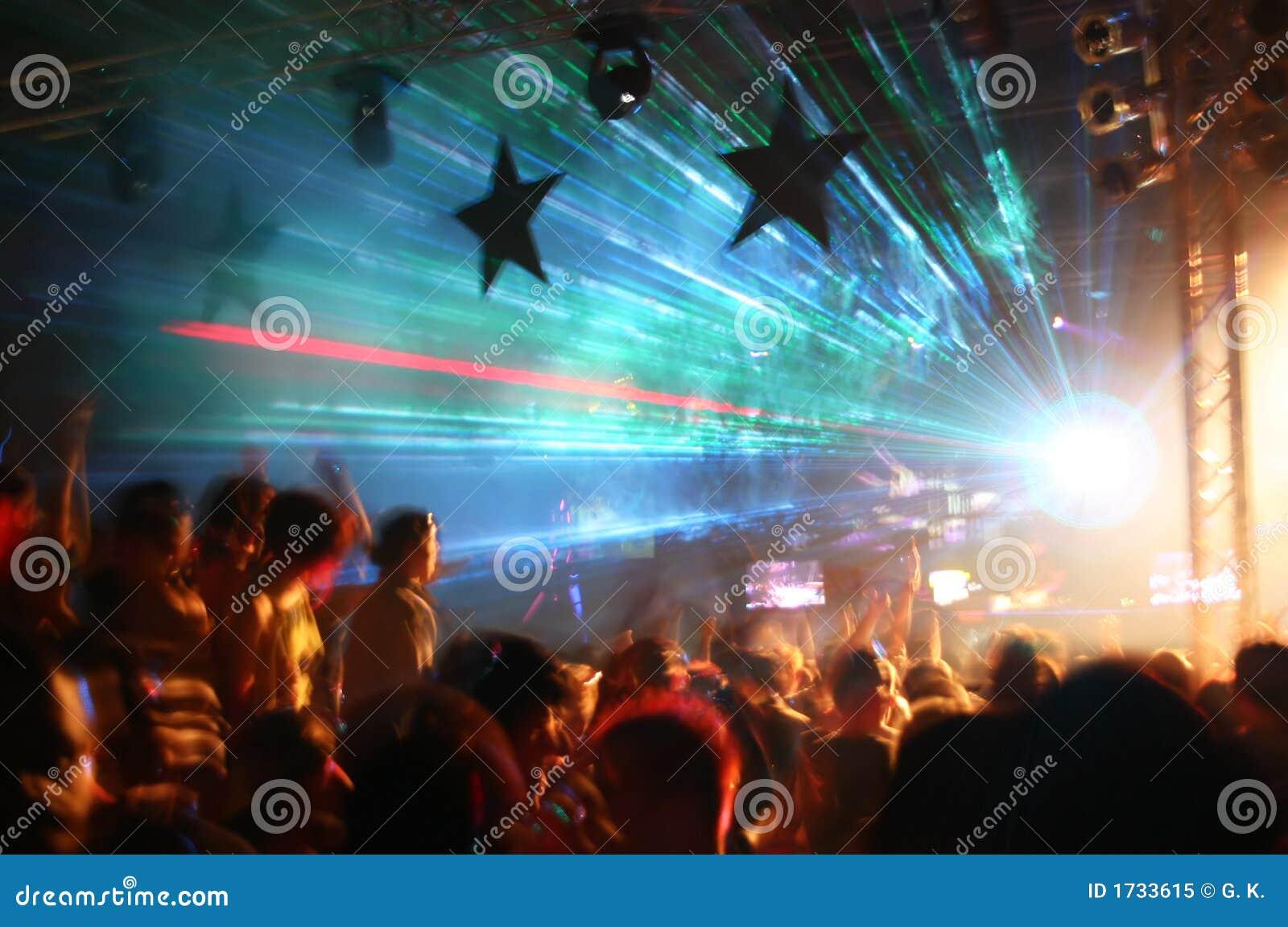 Party an der Disco