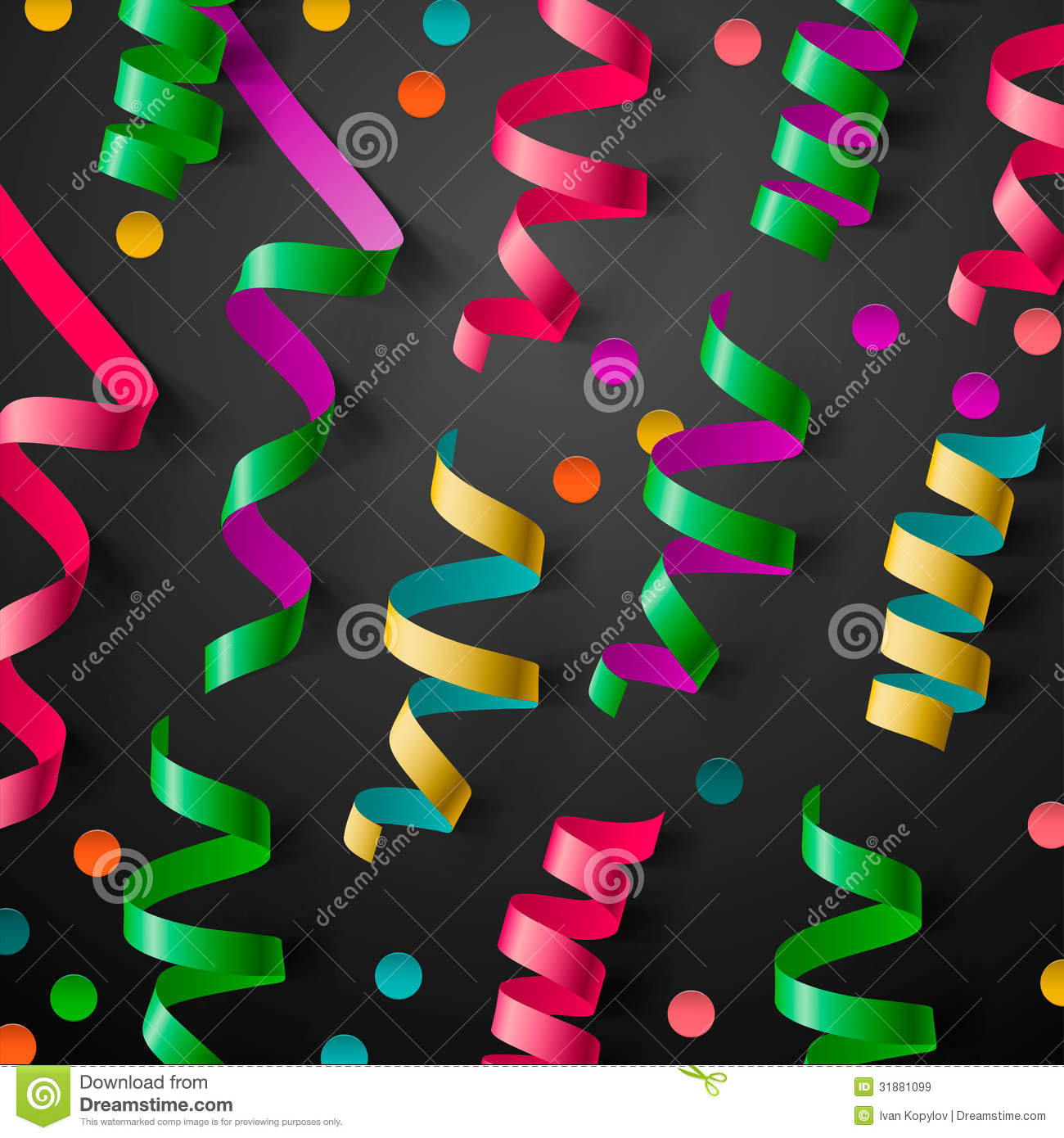 party design template streamers and confetti royalty party design template streamers and confetti