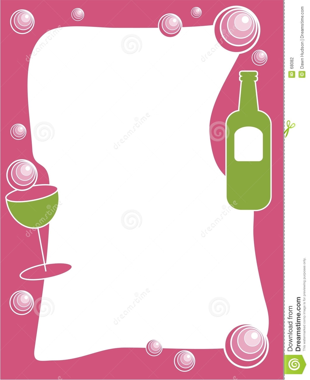 Party champagne and bubbles frame border design. Useful for creating ...