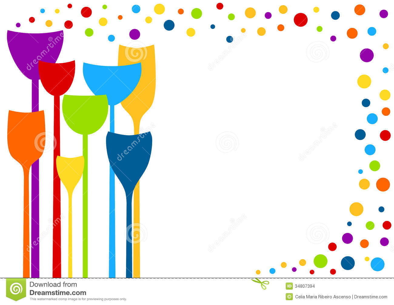 party drinks with bubbles invitation card stock illustration