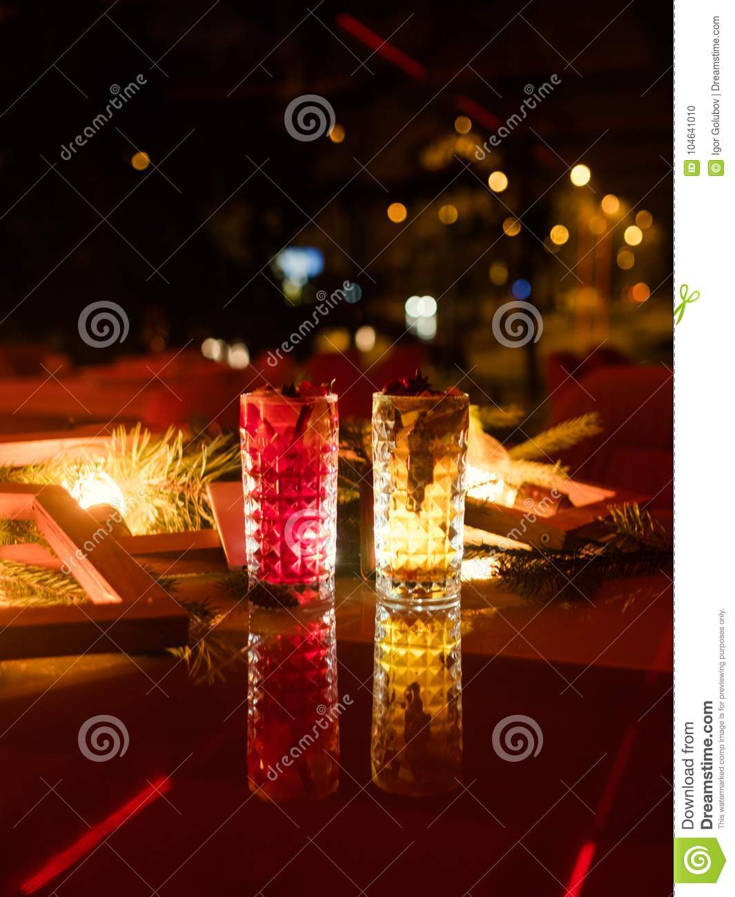 Christmas Drinks Alcohol.Party Drinks Festive Beverage Concept Stock Photo Image Of