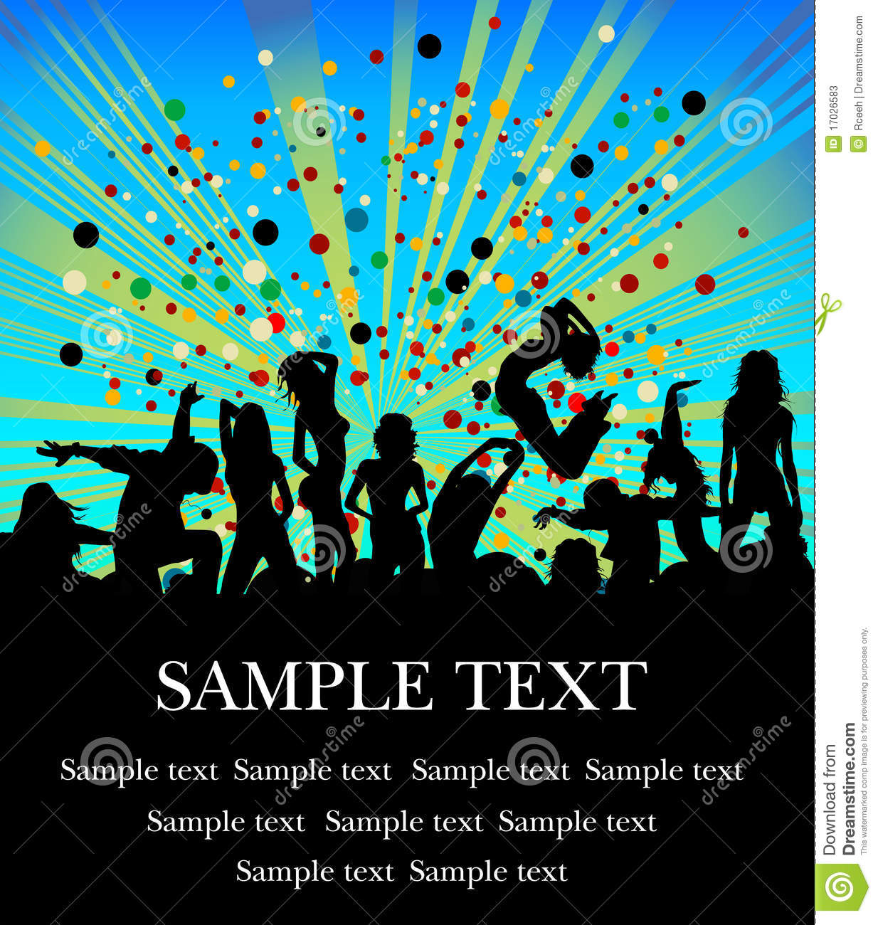 party flyer stock vector illustration of teens rock 17026583