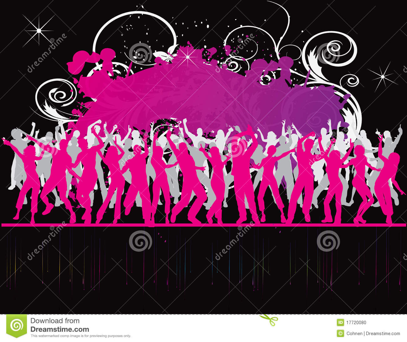 Party Flyer Background Illustration Disco Stock Photo - Image ...