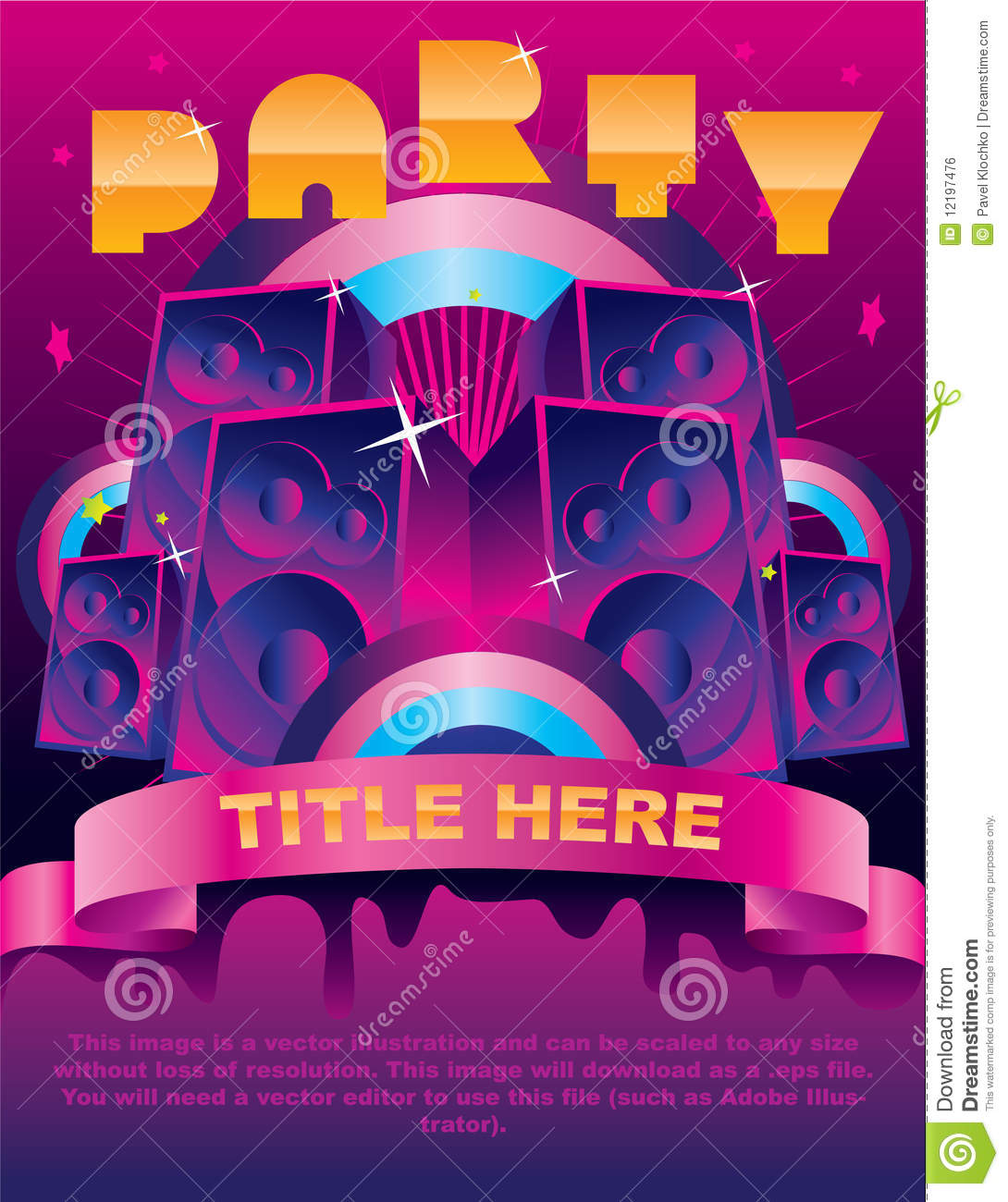 Party flyer card