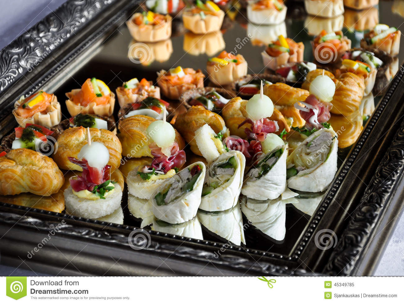 Party Food Platter Stock Photo Image 45349785
