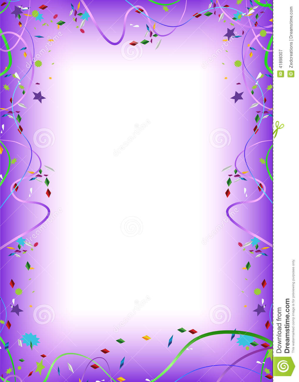 Party related border/frame illustration design.