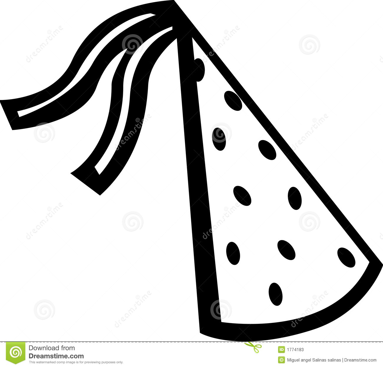 Party hat stock vector. Illustration of alcohol, celebrate - 1774183 for Party Hat Clipart Black And White  166kxo
