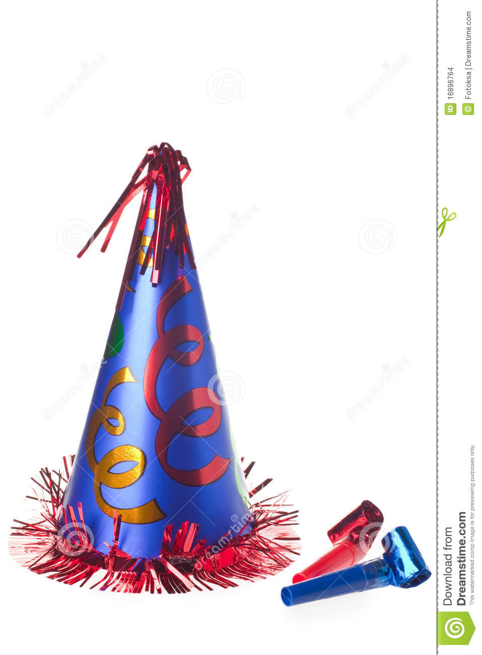 Party hat and blowers