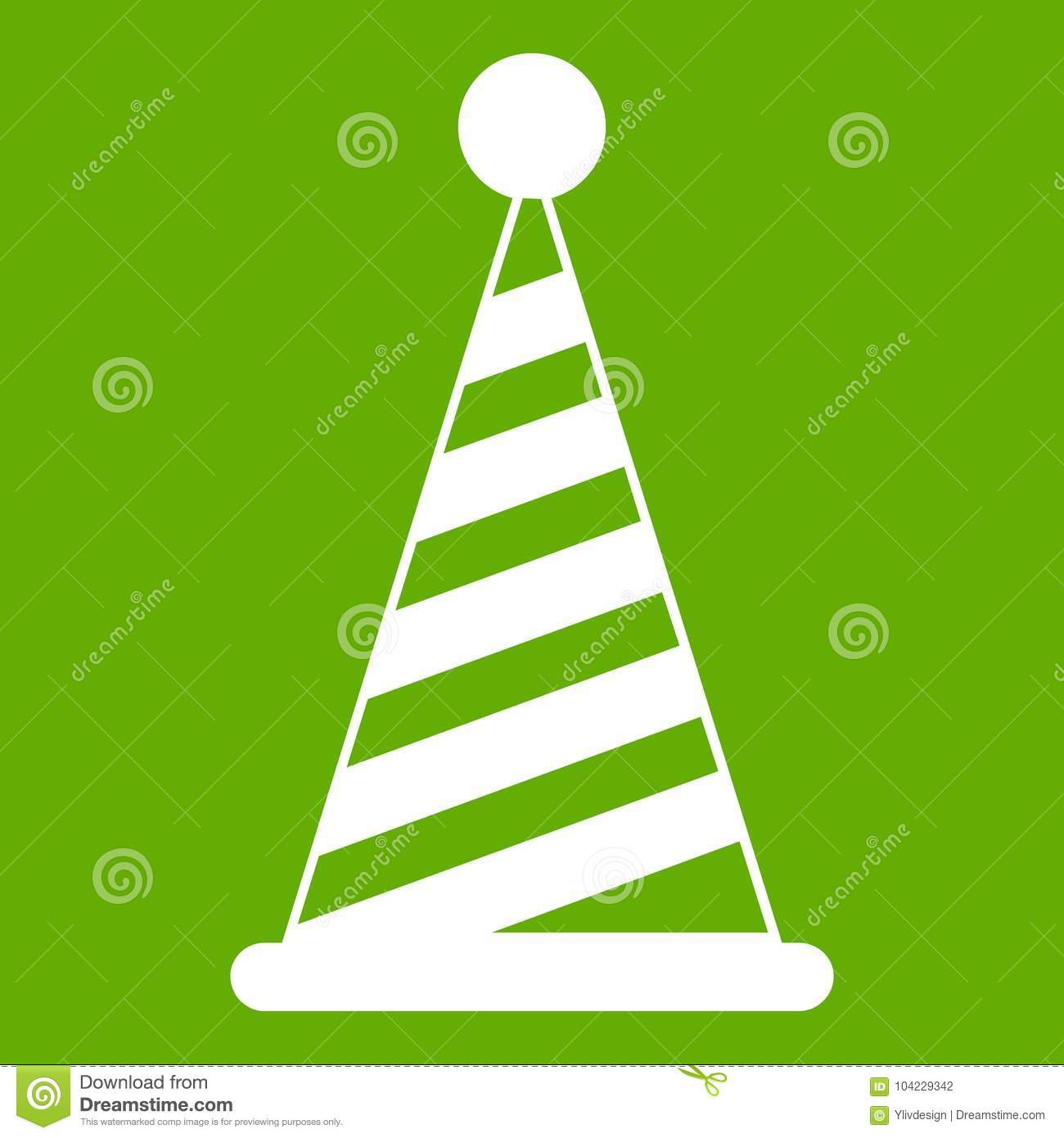 Party hat icon green