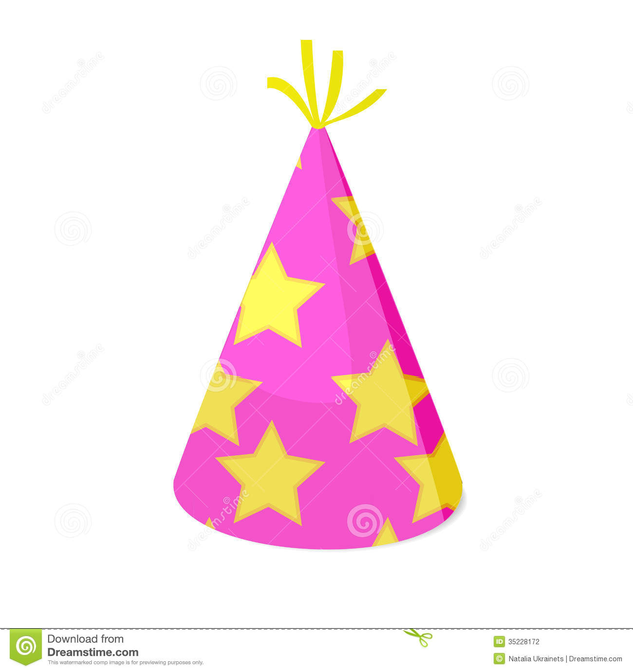 party hat stock vector illustration of event star dressing 35228172 rh dreamstime com party hat vector transparent party hat vector free