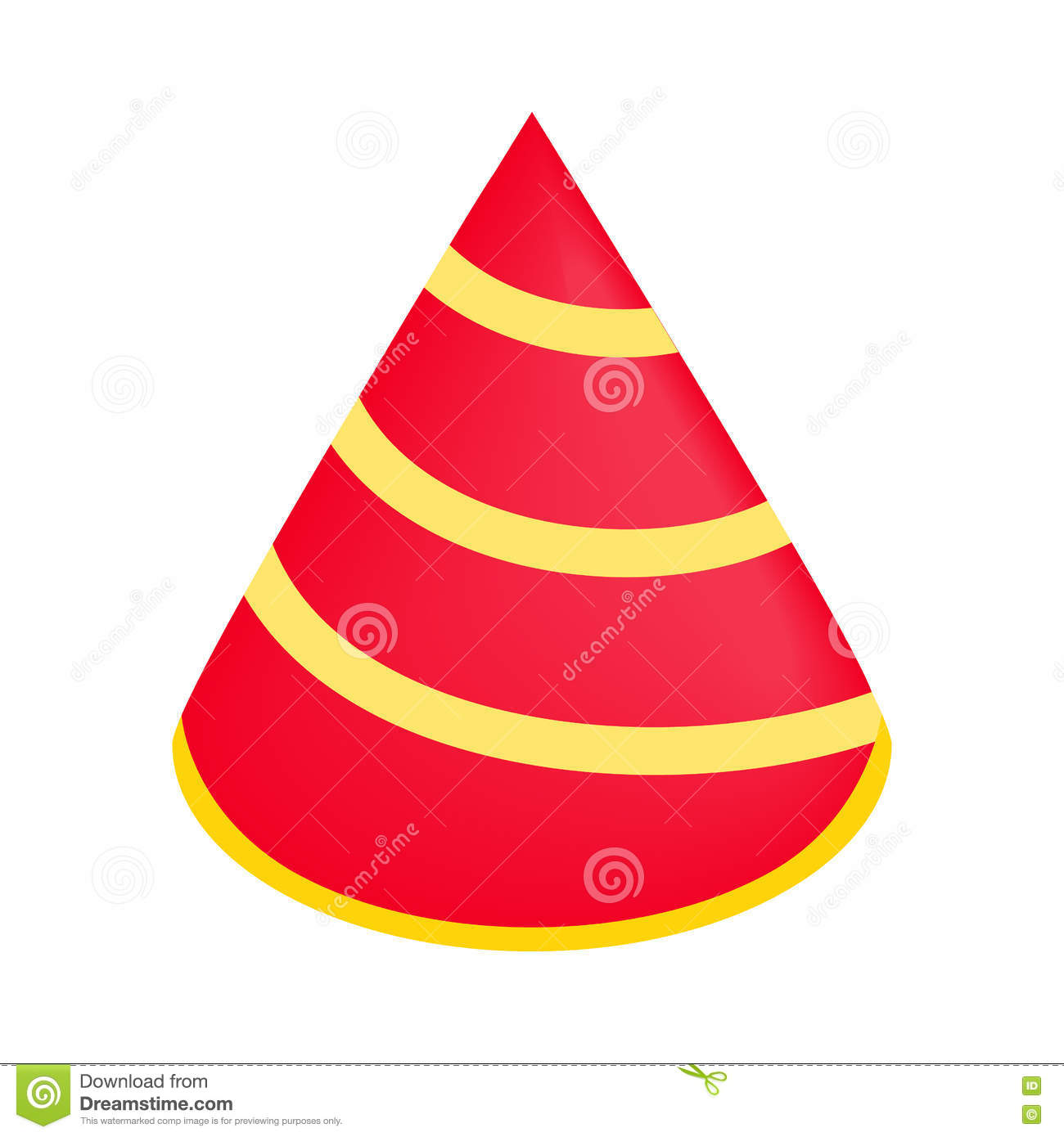party hat isometric 3d icon stock vector illustration of cone