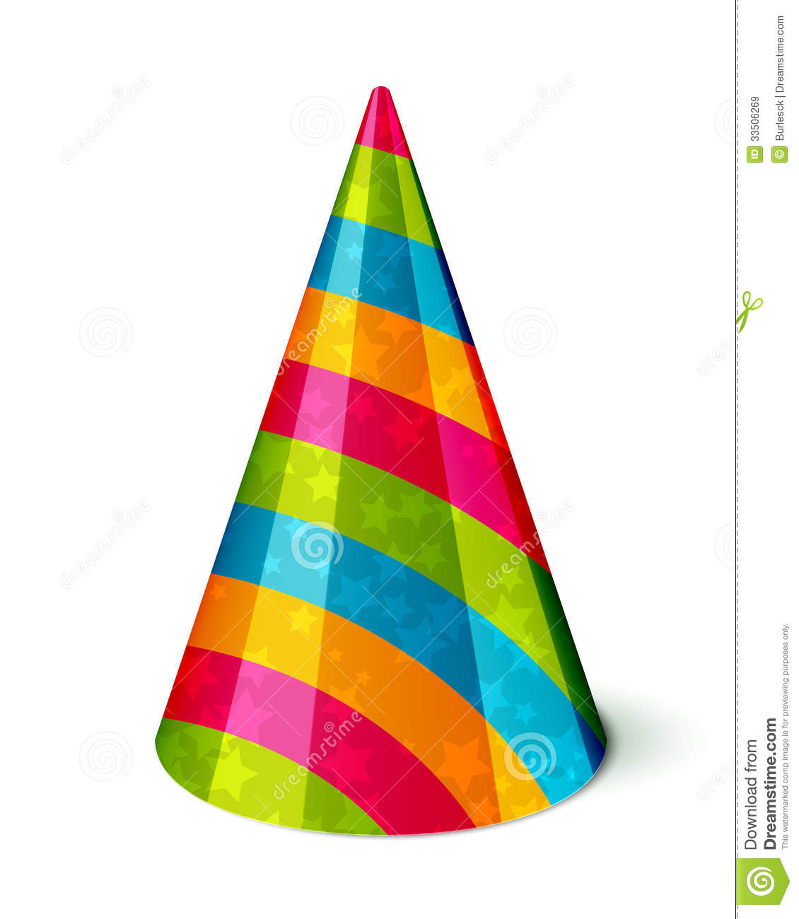 party hat stock vector illustration of costume party 33506269 rh dreamstime com christmas party hat vector party hat vector image