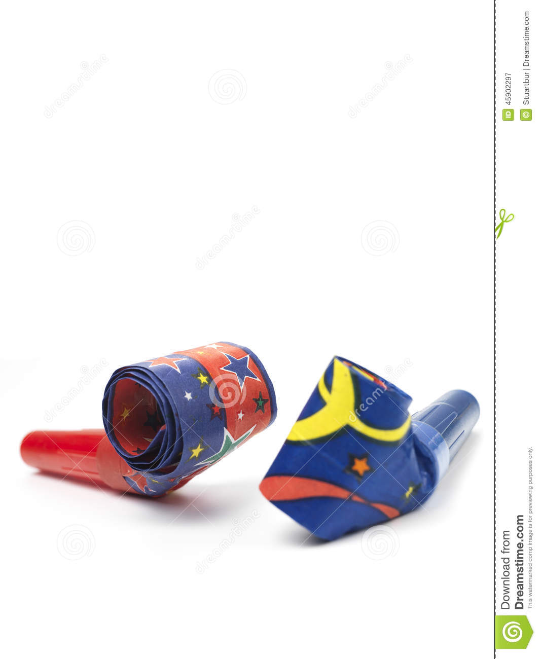 Party Blower: Party Horn Blower Stock Photo