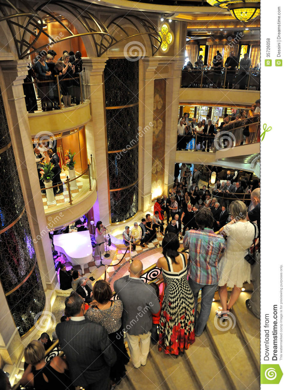 Party Inside Cruise Ship Editorial Stock Photo Image