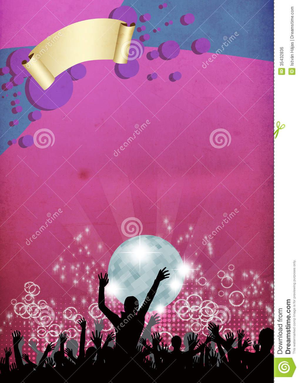 Party Invitation Background Royalty Free Stock Image - Image: 35432836