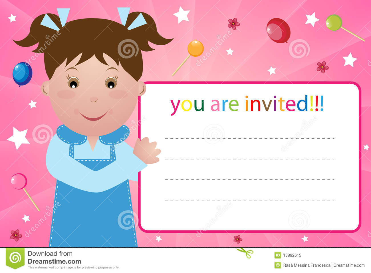 Invite Party Card Roho 4senses Co