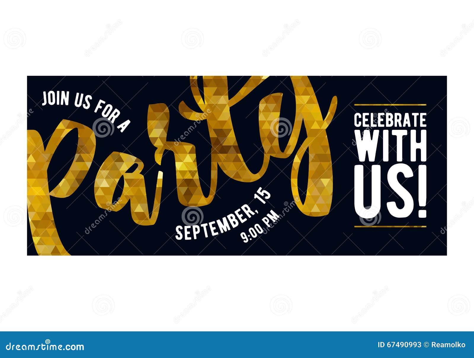 Party Invitation Card Premium Design Template Vector – Party Invitation Design