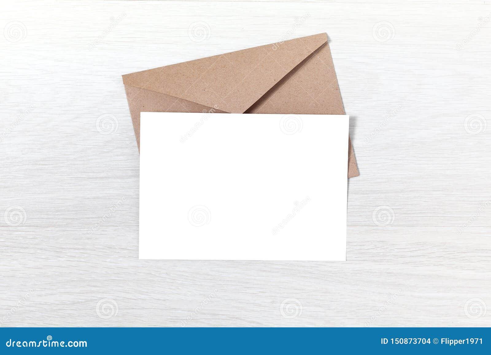Party Invitation Mockup Card And Envelope Stock Photo