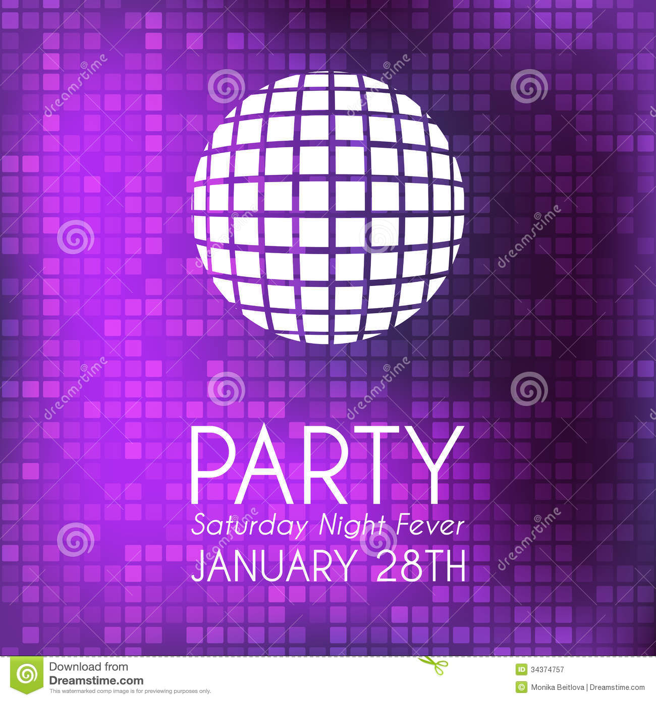 Party Invitation Royalty Free Photography Image 34374757 – Disco Party Invitations Free