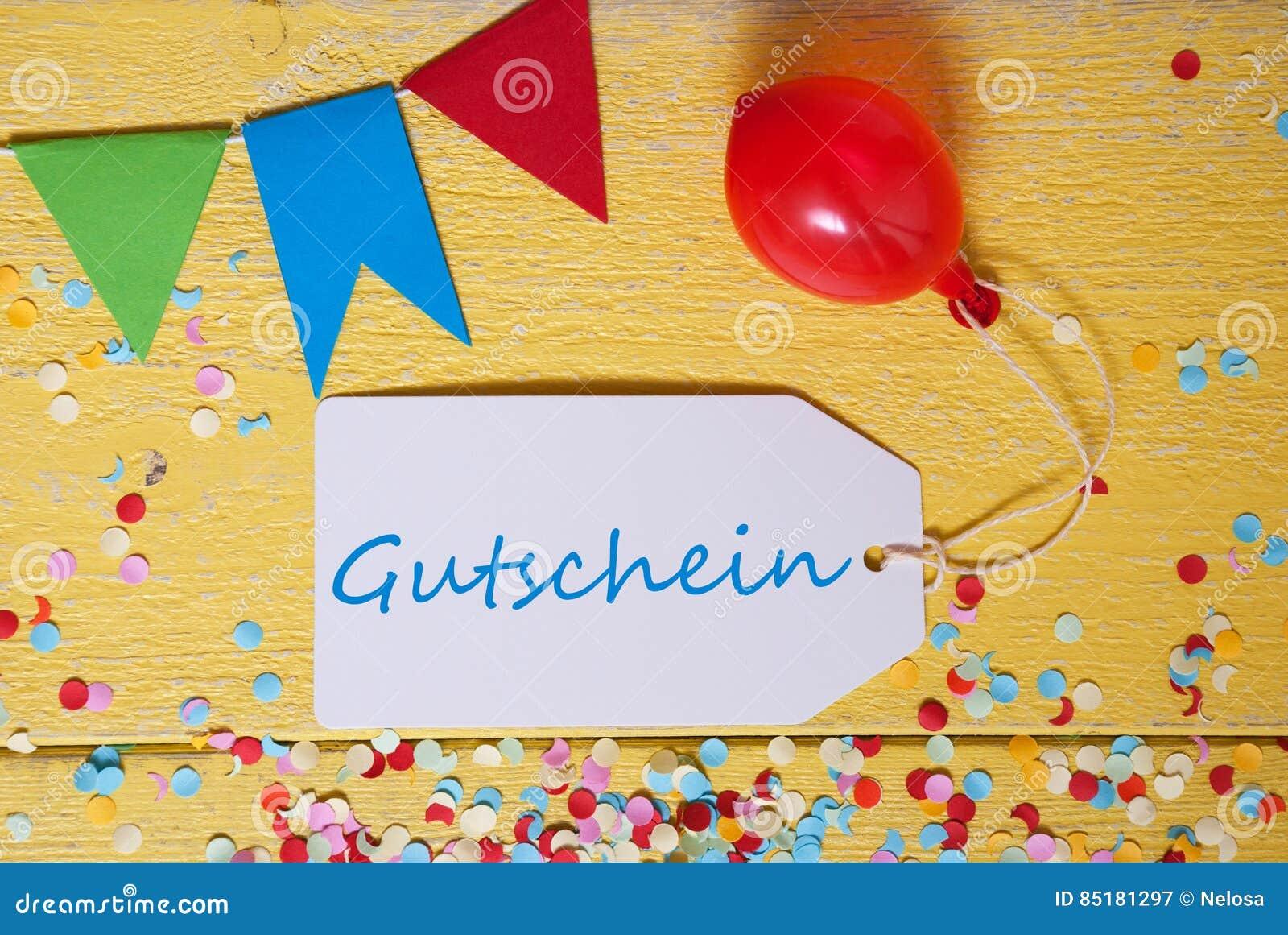 Gutschein Party