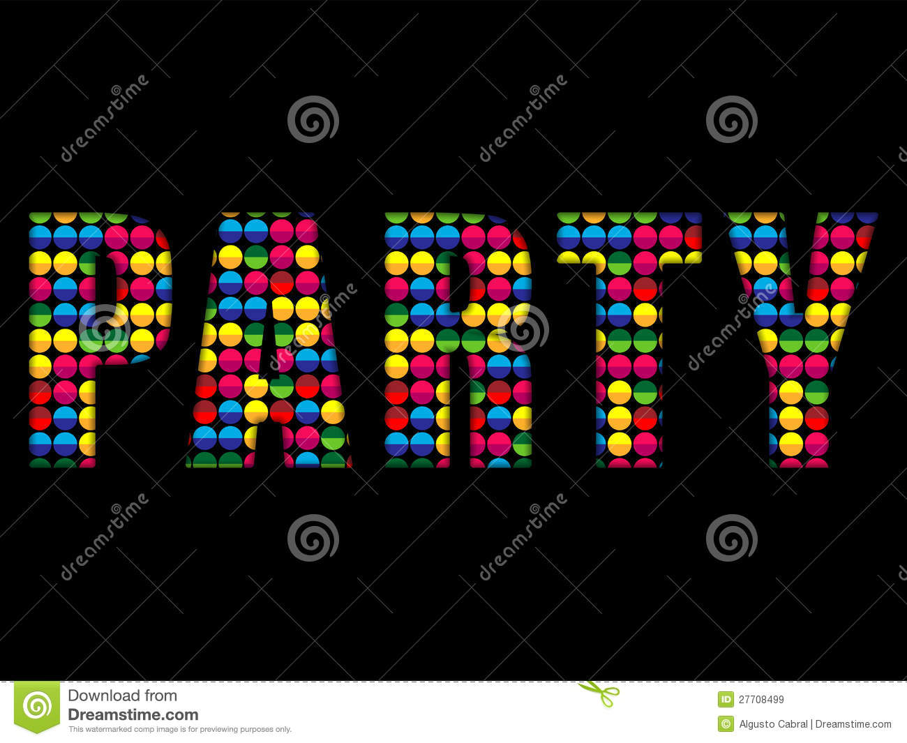 Party Letters Music Disco The Letter I In Rainbow Glitter