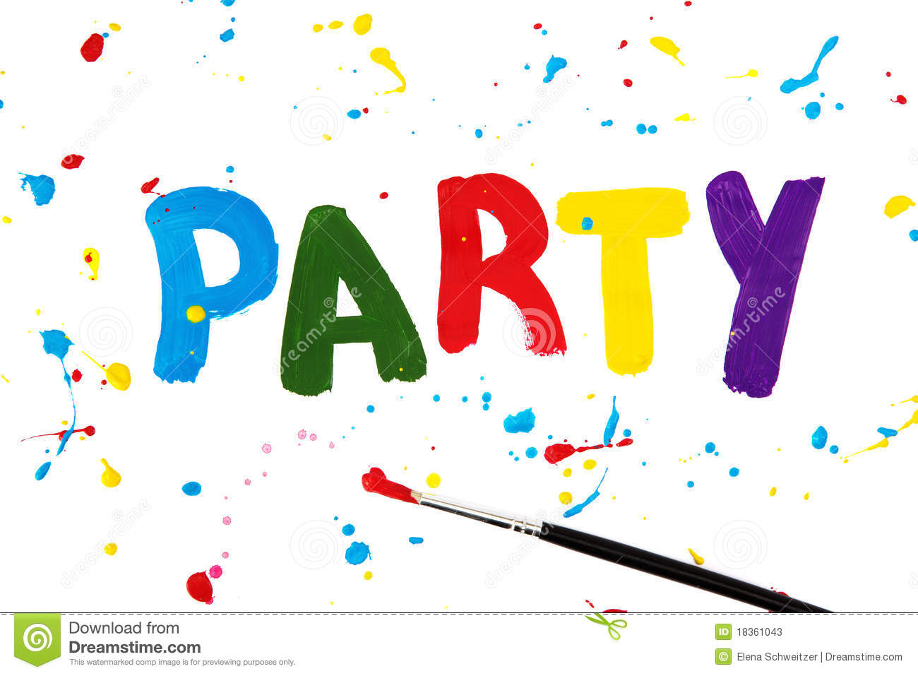 Party Letters On Paper Stock Photos - Image: 18361043