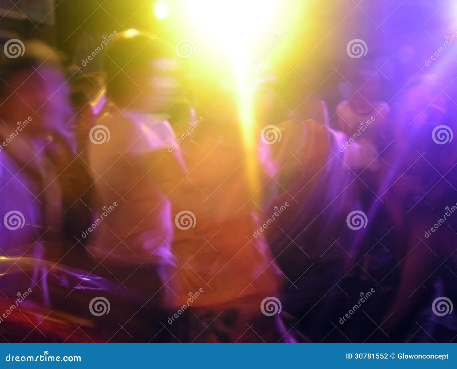 Party light in pub dance, clubbing
