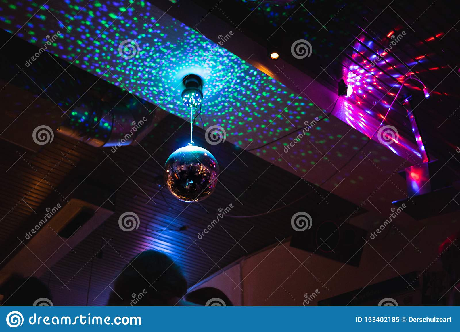 Party lights disco bar night