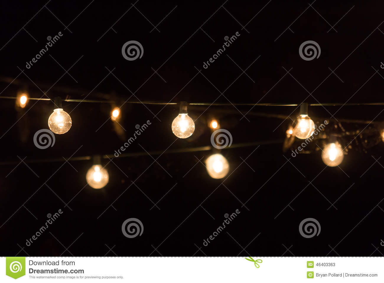 Party Lights Stock Photo - Image: 46403363