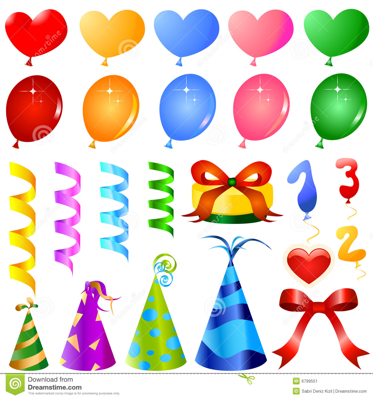 Party ornaments vector stock vector. Illustration of blue ...