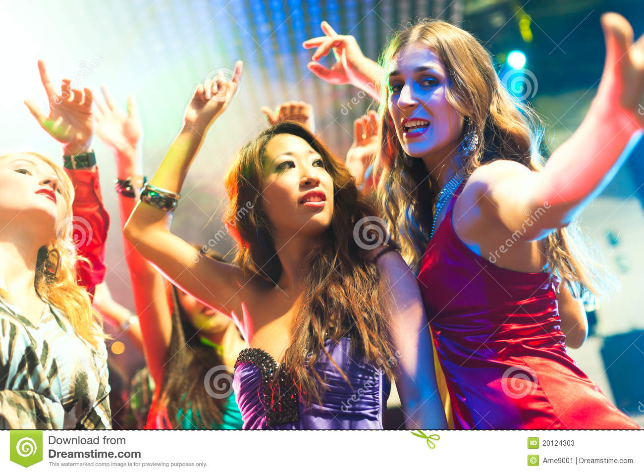 Party People Dancing In Disco Or Club Stock Photos Image