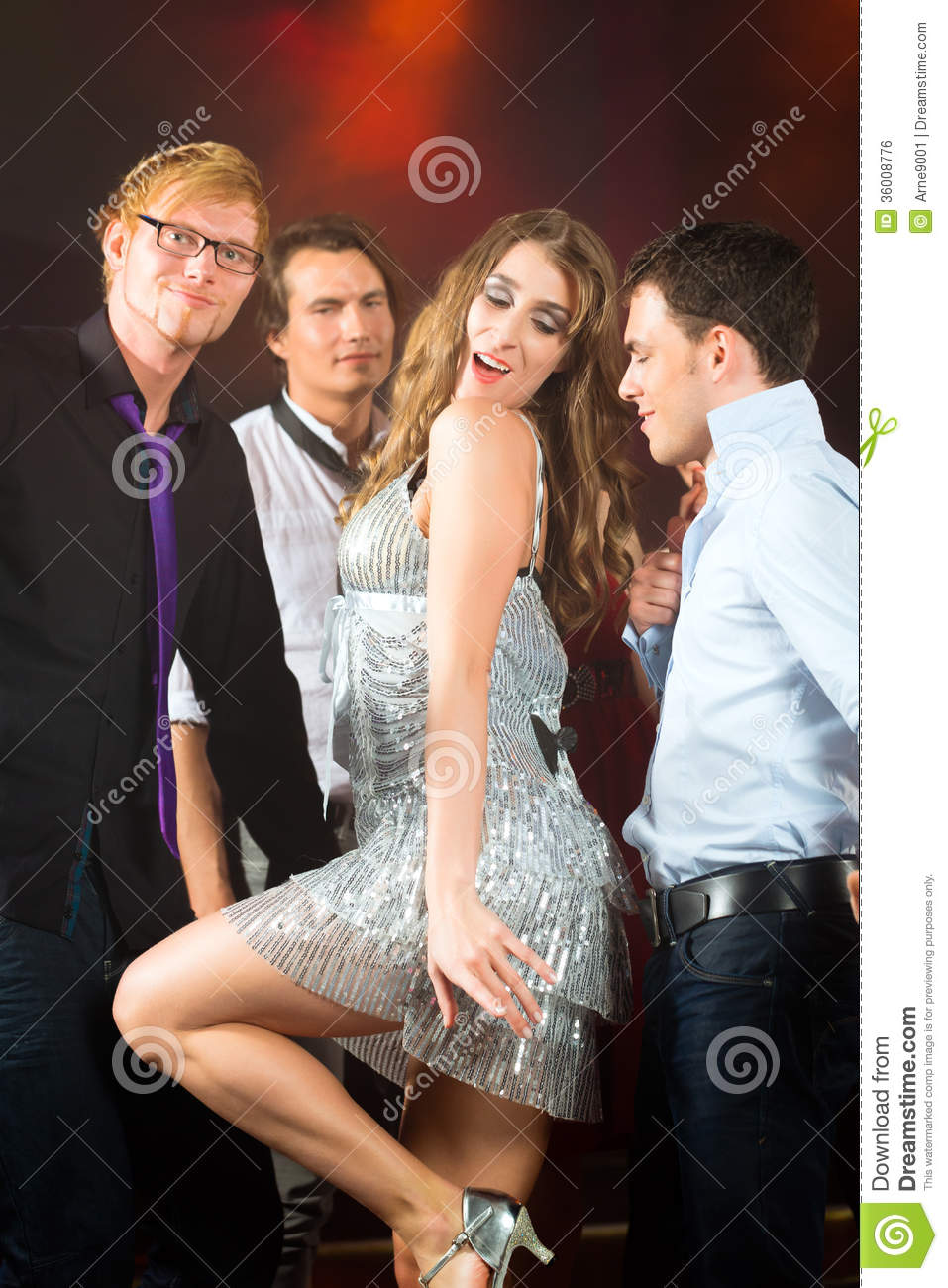 party people dancing in disco club royalty free stock