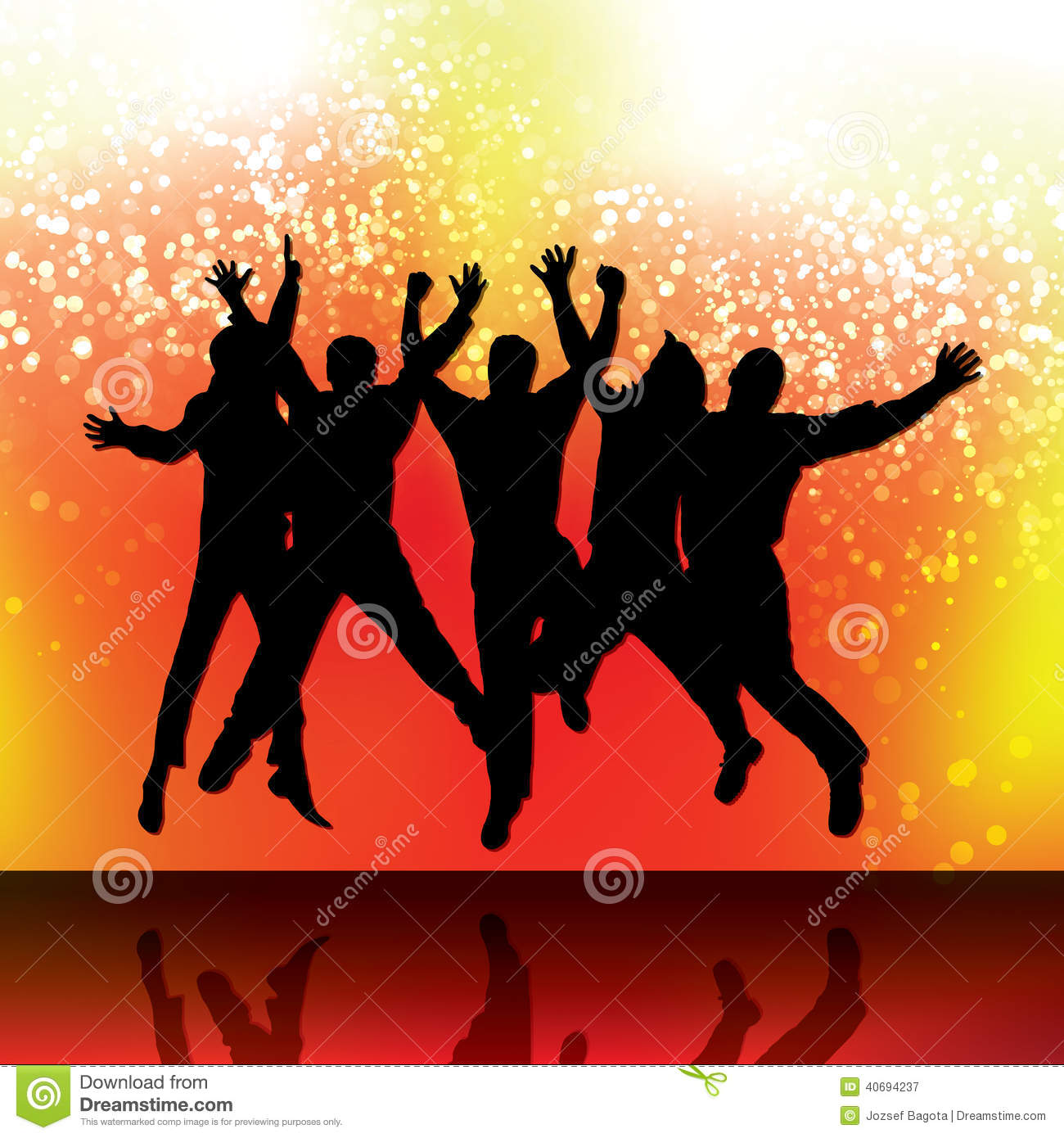 Party People Vector Background Stock Vector - Image: 40694237