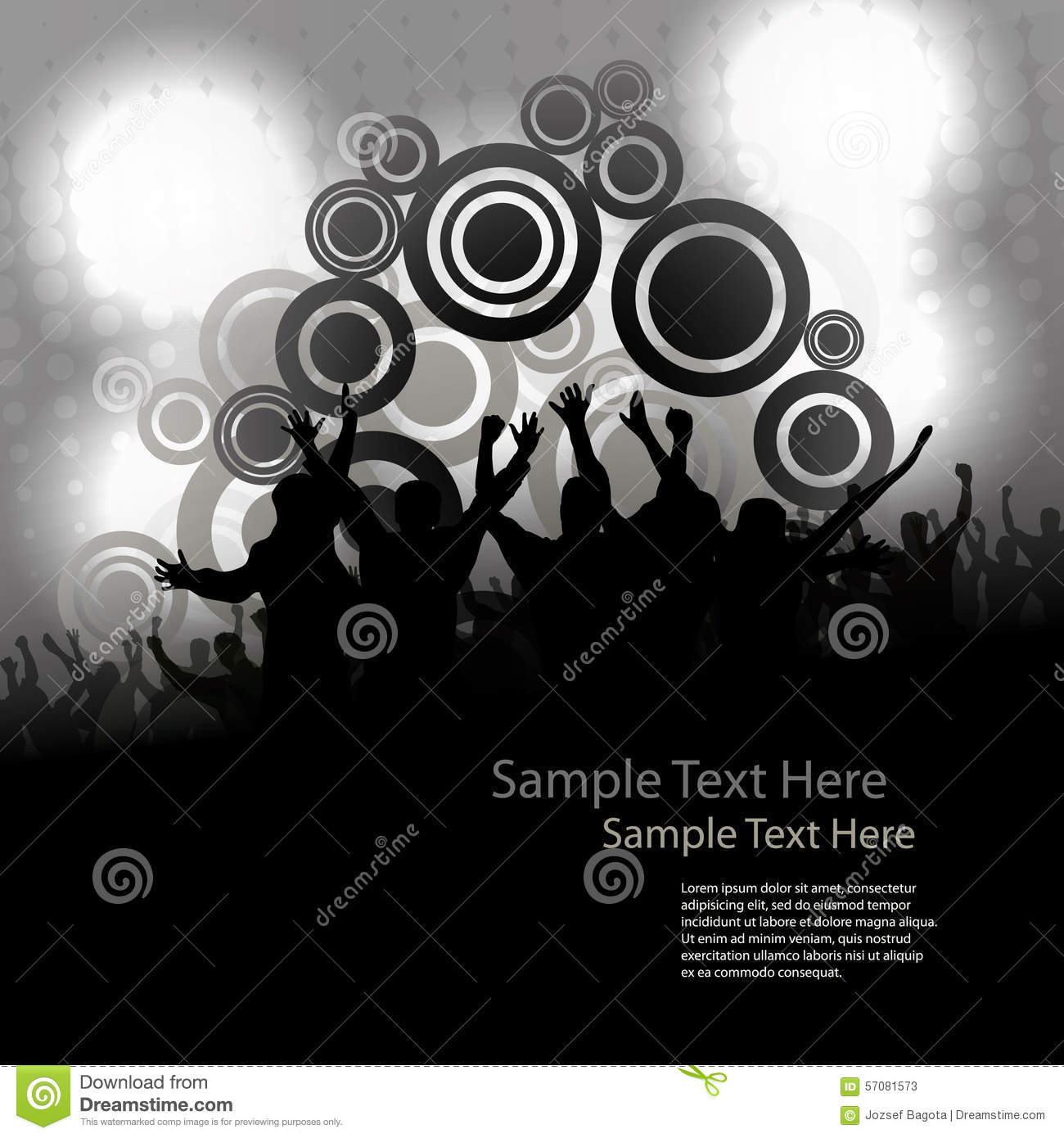 Party People Vector Background Stock Vector