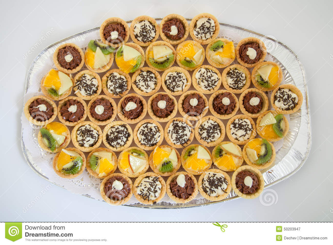 Party Platter With Small Cupcakes With Different Stuffing Food Catering Stock Image Image Of Multicolored Cupcake 50203947