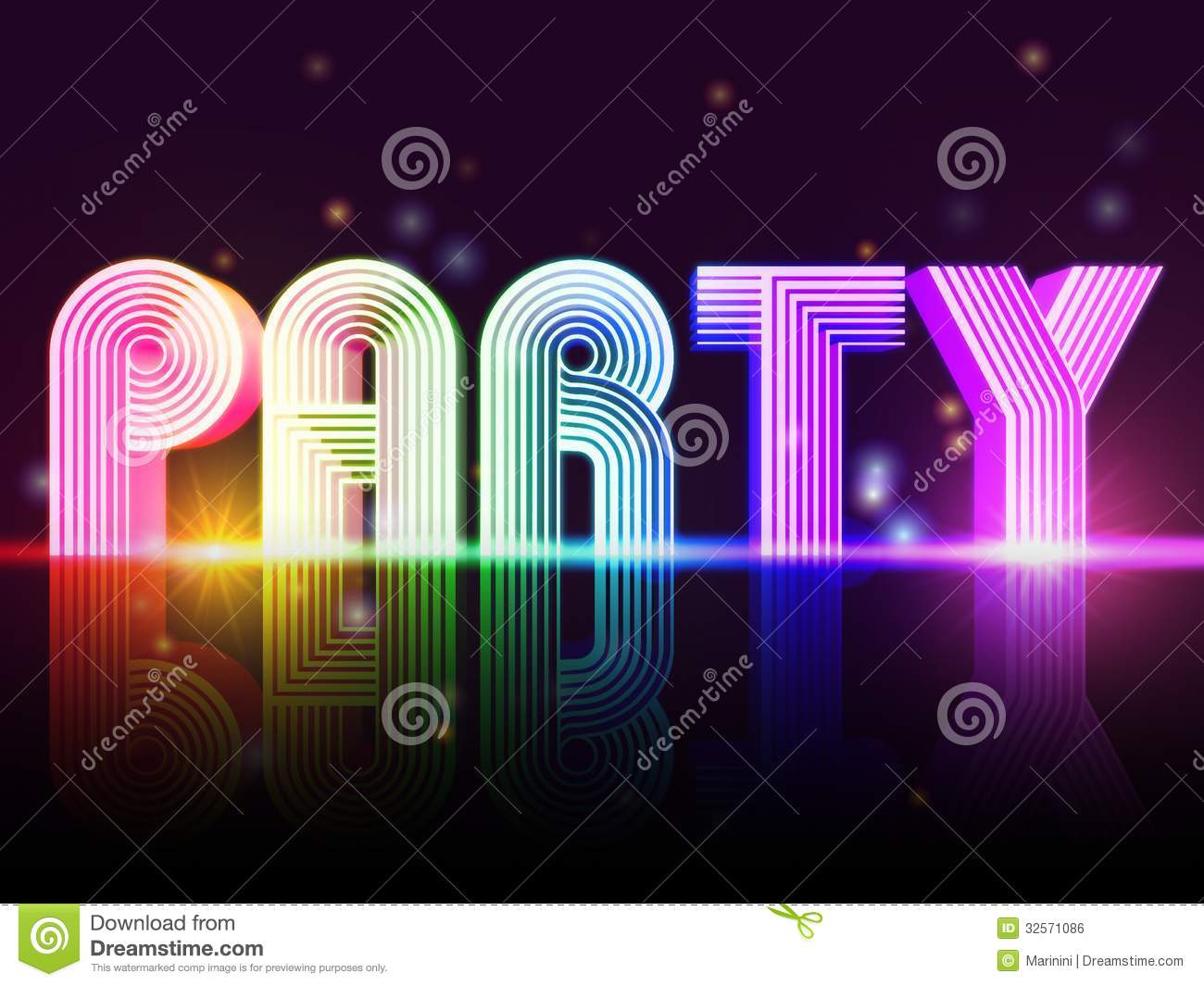 Party poster royalty free stock image image 32571086