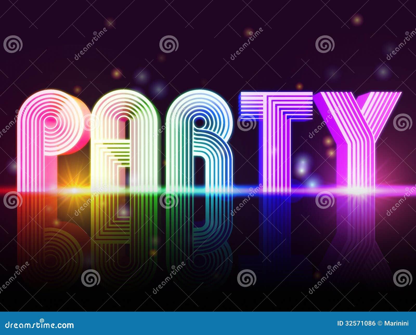 Party poster stock illustration. Illustration of rainbow ...